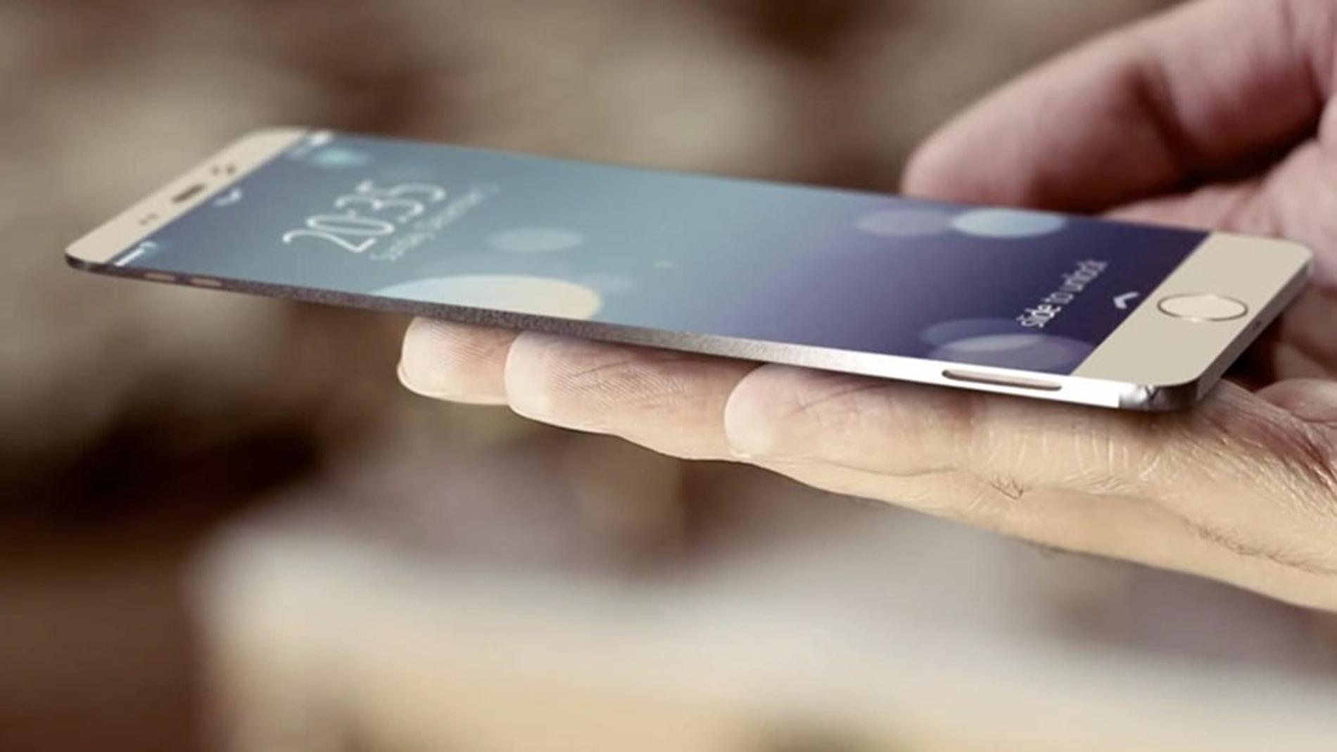 Diseño conceptual de un usuario de cómo sería un iPhone 6