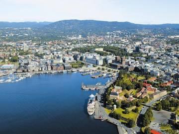 Imagen aérea de la ciudad de Oslo