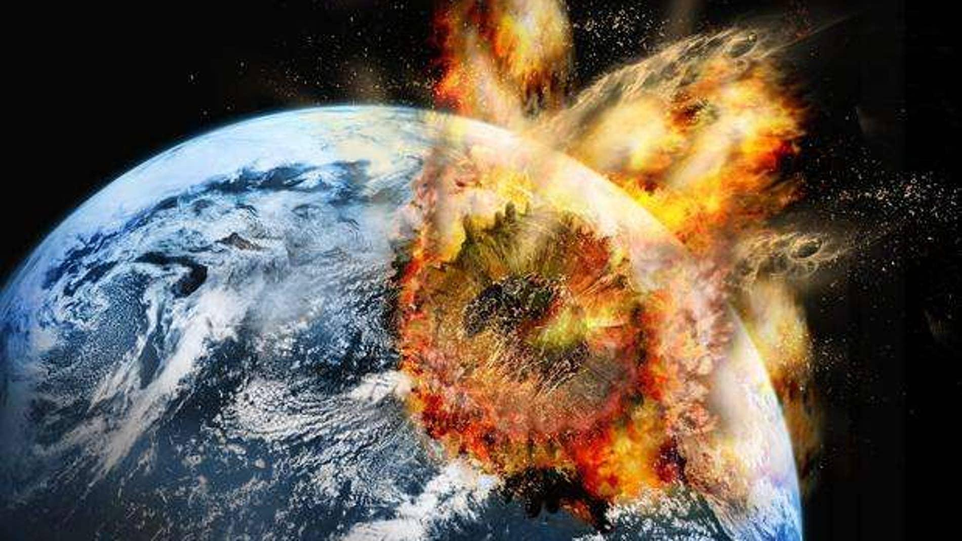Recreación del impacto de un meteorito gigante