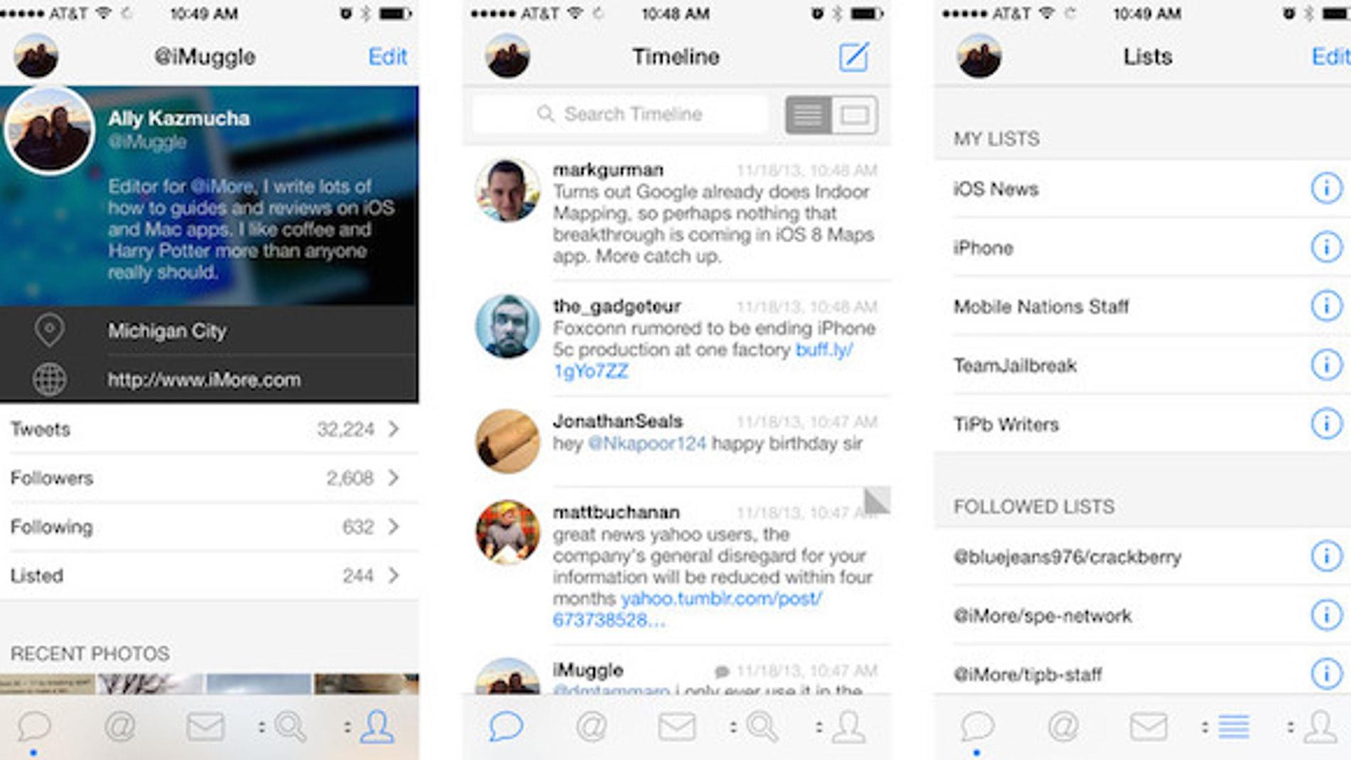 Tweetbot, el cliente de Twitter de moda para iOS