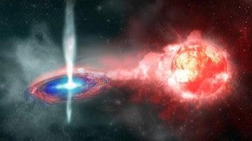 Concepción artística de la supernova de 2010