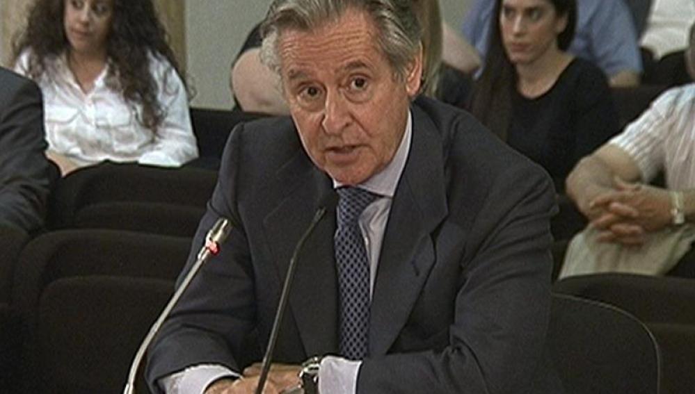 Miguel Blesa en el juicio contra Silva