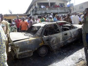 Imagen del atentado del pasado 14 de abril en Abuya