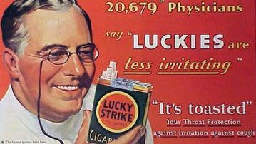 Una época no tan lejana: un médico anunciando tabaco