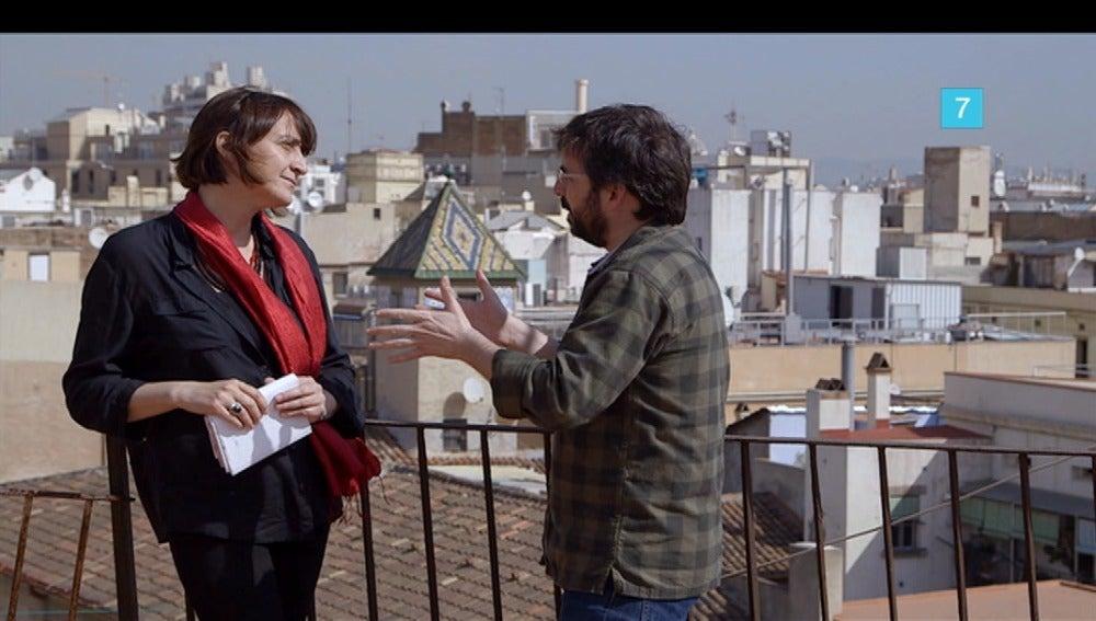 Itziar González y Jordi Évole