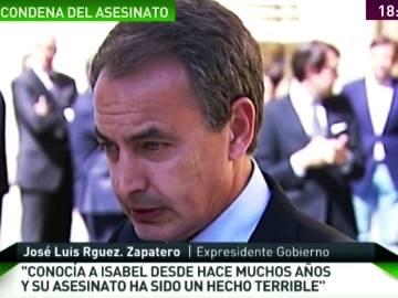 José Luis Rodríguez Zapatero habla sobre Carrasco