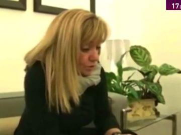 Isabel Carrasco en una emisión de RTV Catilla y León