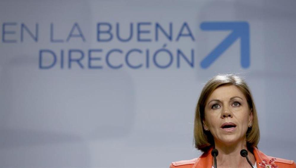 María Dolores de Cospedal tras el Comité Ejecutivo del PP.