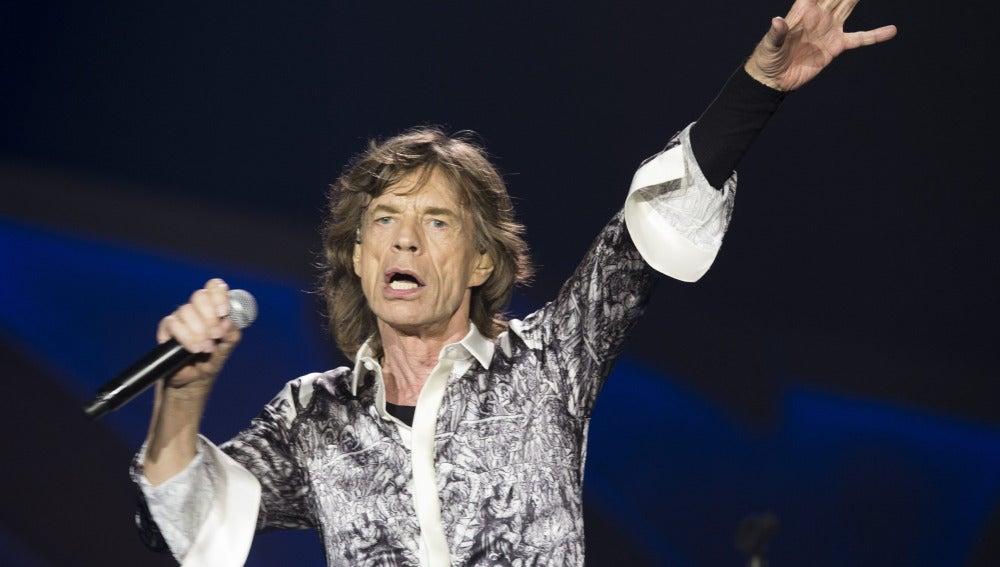 El cantante de Rolling Stones Mick Jagger, en un momento del concierto