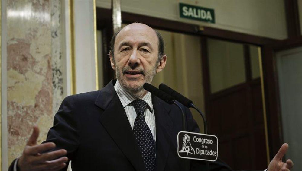 Alfredo Pérez Rubalcaba en el Congreso