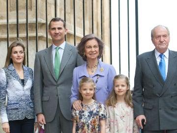 Los miembros de la Familia Real con la llegada de Felipe VI