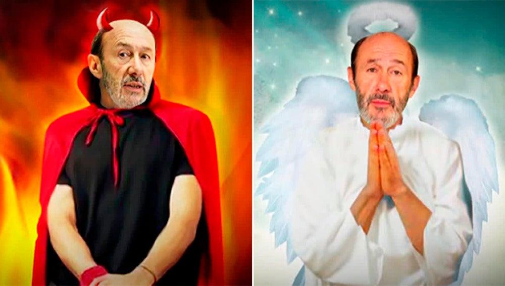 Rubalcaba, de demonio a ángel en El Intermedio