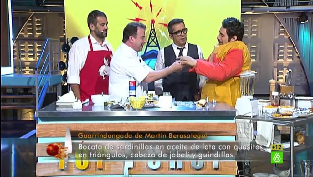 Berto Chicote prueba la guarrindongada de Berasategui