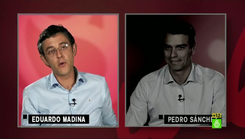 Eduardo Madina y Pedro Sánchez responden el test de Thais Villas
