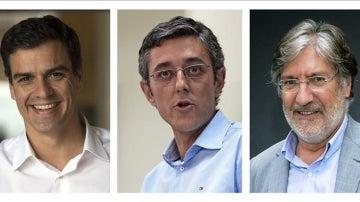 Sánchez, Madina y Pérez Tapias, los candidatos oficiales a las primarias del PSOE.