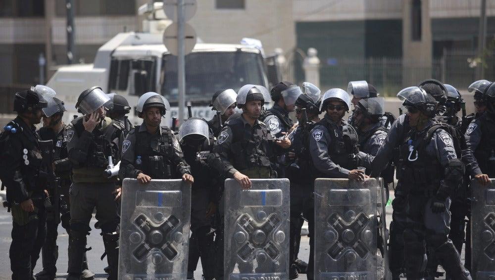 Policías fronterizos se preparan en Jerusalén