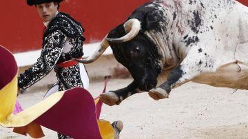 El diestro Miguel Abellán durante una corrida de toros