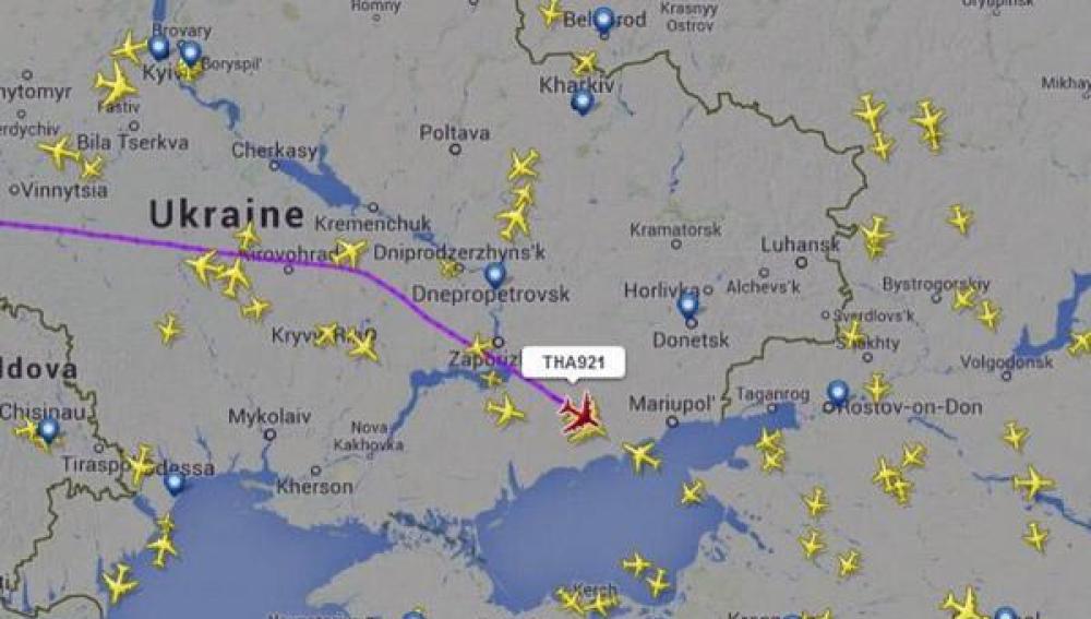 La trayectoria de los aviones, desviada tras el accidente