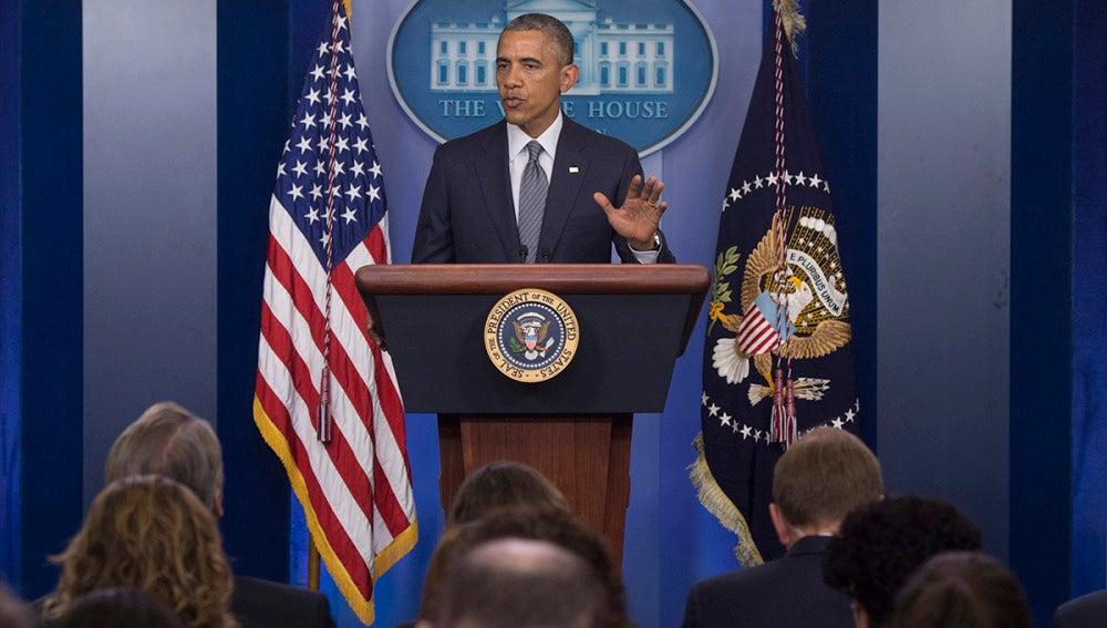 Obama, en una rueda de prensa en la Casa Blanca, Washington