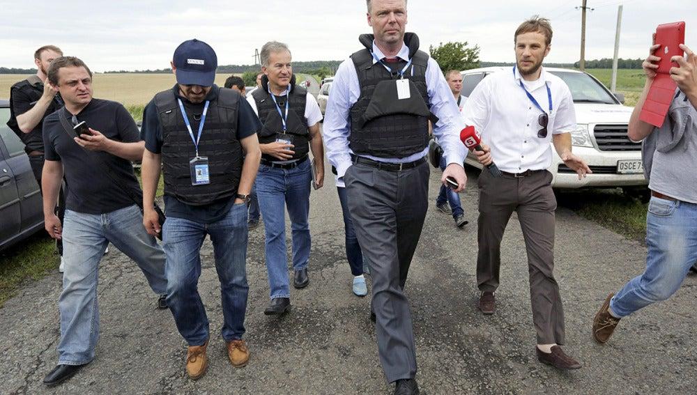 Uno de los inspectores de la OSCE llega a Ucrania para investigar el avión derribado