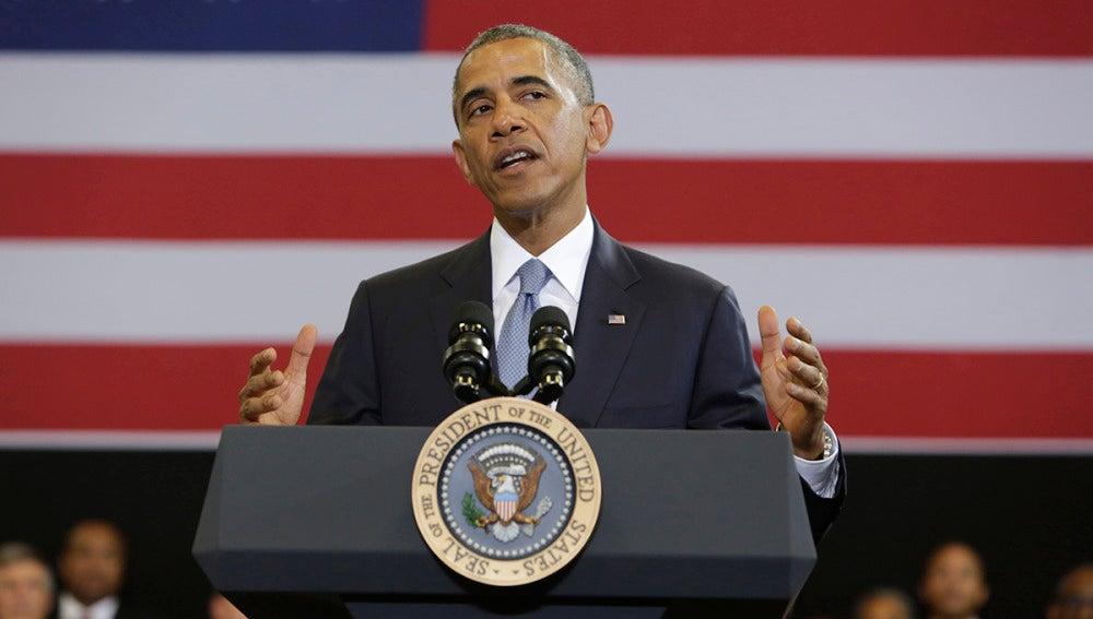 Obama, durante un acto institucional