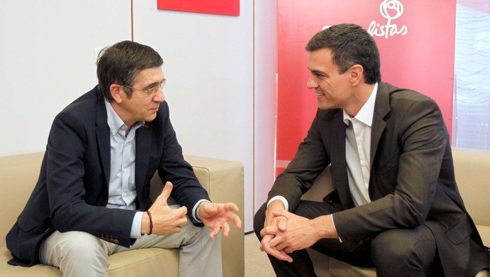 Encuentro entre Patxi López y Pedro Sánchez