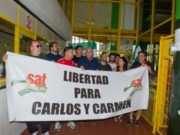 Miembros del SAT piden la puesta en libertad de Carlos Cano