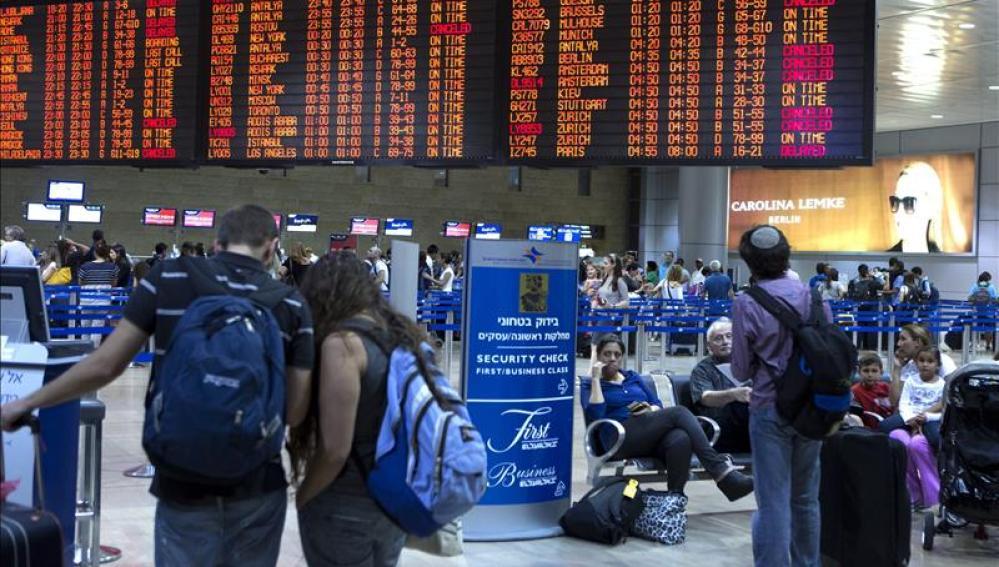 Aeropuerto Ben Gurion en Lod, a las afueras de Tel Aviv