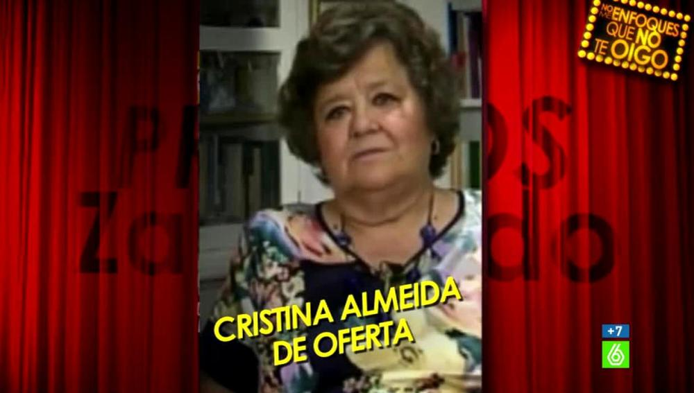 Cristina Almeida, ganadora premio Zapeando