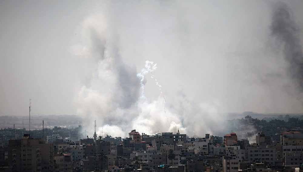 Gaza tras un bombardeo del Ejército israelí