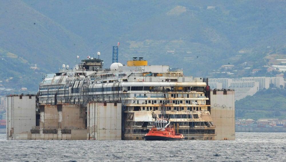 Último destino del Costa Concordia para ser desguazado