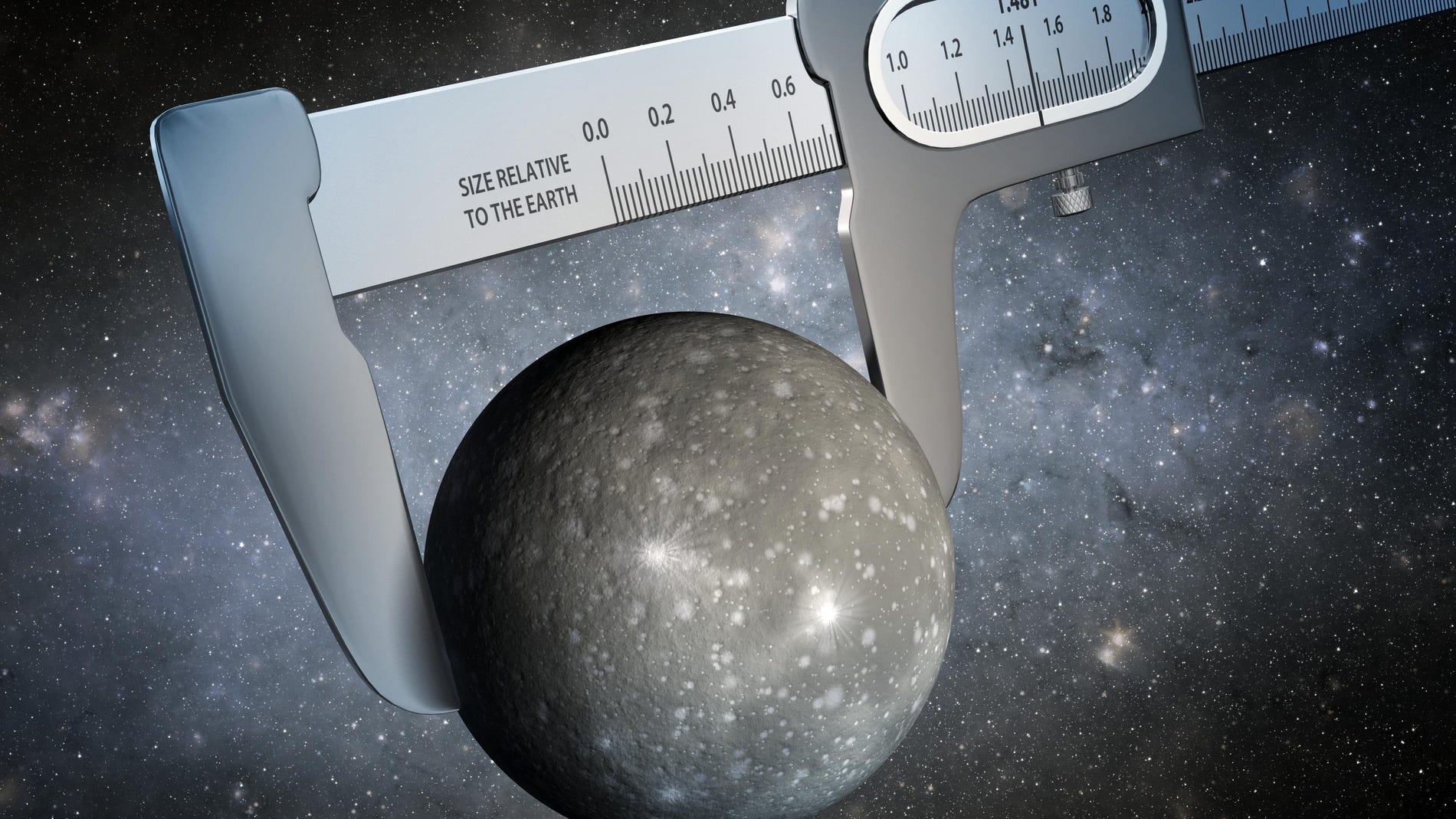 Midiendo el tamaño de un mundo alienígena