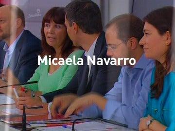 Micaela Navarro , del PSOE en laSexta noche