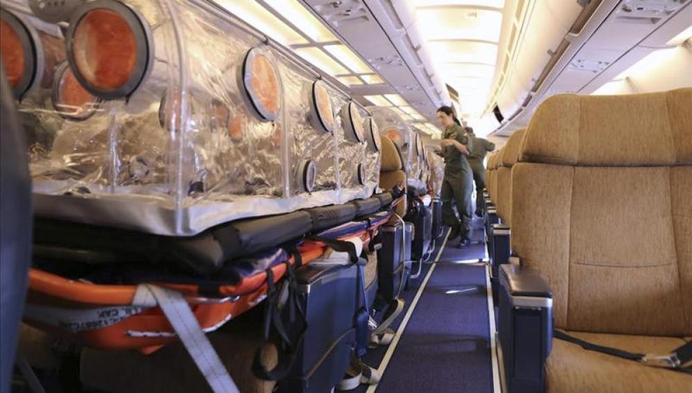El Airbus A310 medicalizado que repatriará desde Liberia al religioso español Miguel Pajares