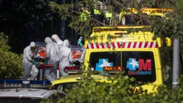 Llegada de Miguel Pajares, infectado de ébola, al hospital Carlos III