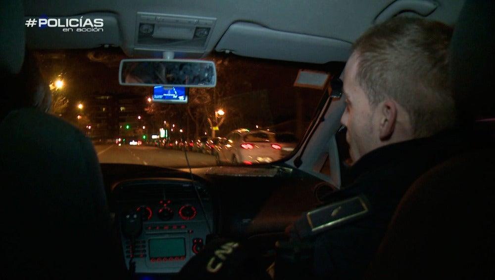 Una patrulla de policía en Madrid