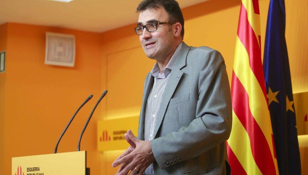 El secretario general adjunto de ERC, Lluis Salvadó