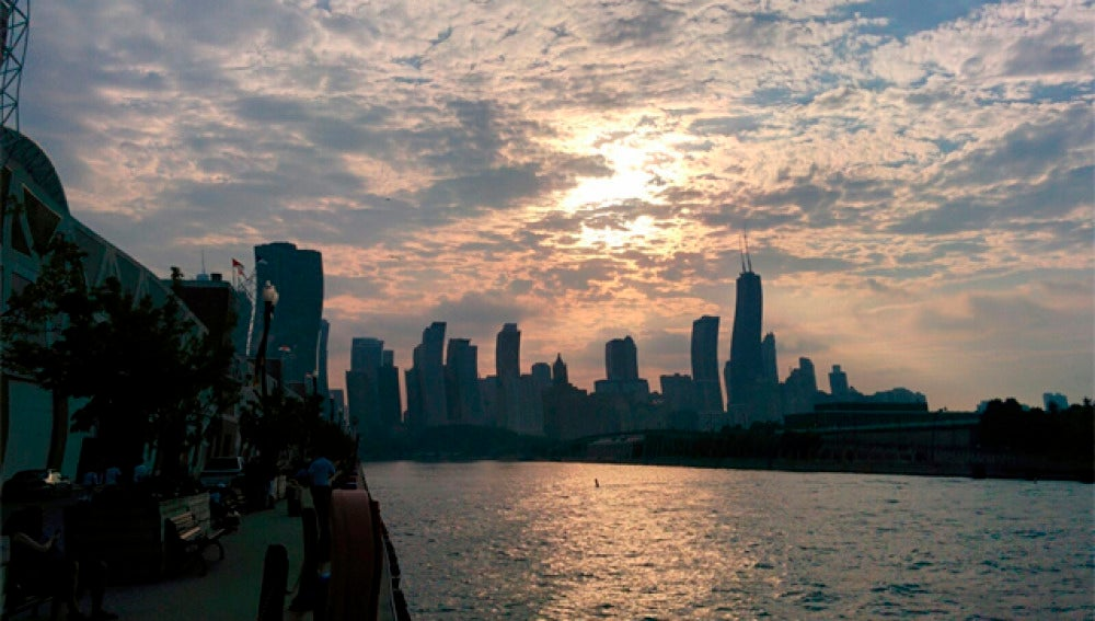 Chicago con efecto rolling shutter
