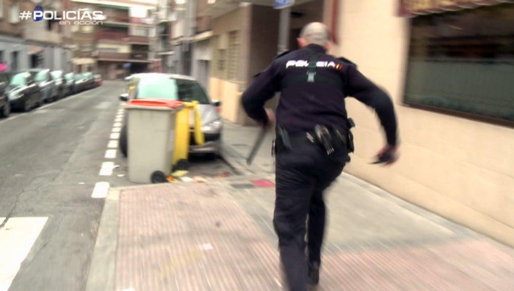 'Policías en acción' persigue a un presunto ladrón