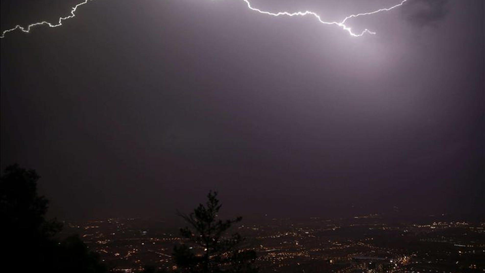 Tormenta eléctrica en Navarra