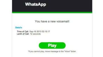El timo del contestador automático de WhatsApp