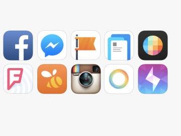 Iconos de varias apps de una empresa