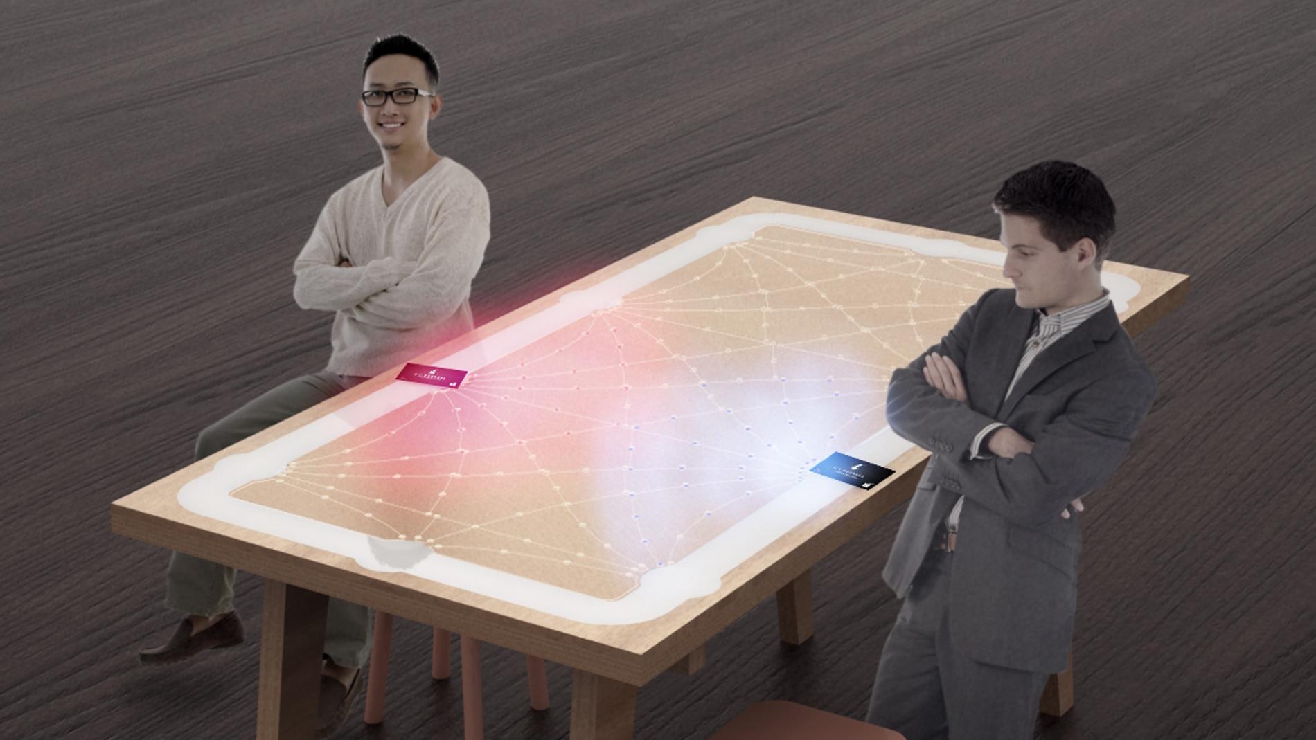 6 Degrees- la mesa interactiva que te busca contactos profesionales