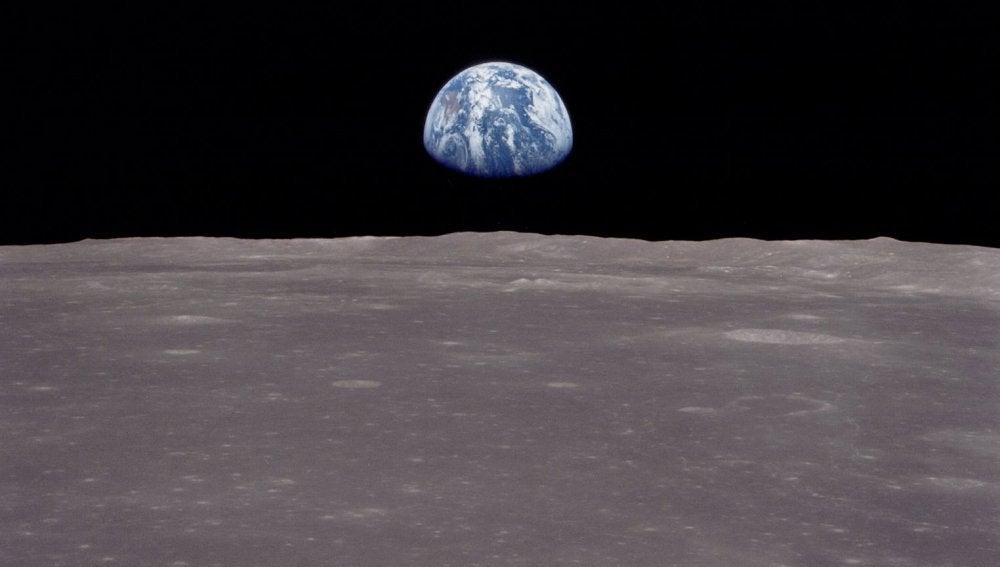 La Tierra vista desde la Luna en 1969