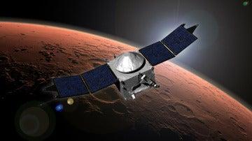 Interpretación artística de la sonda MAVEN