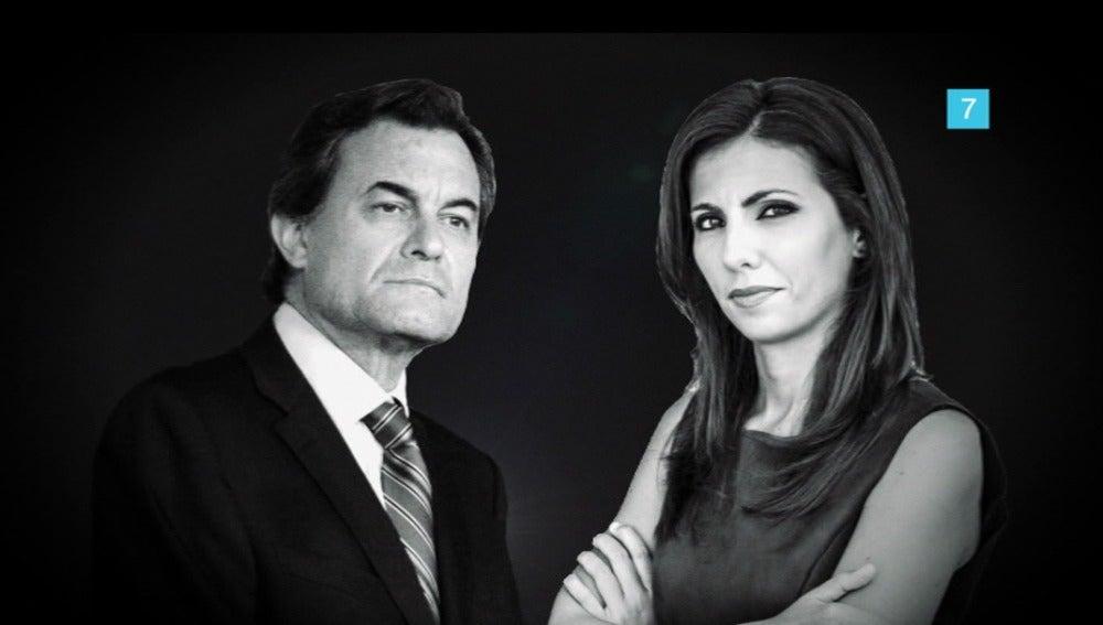 Ana Pastor entrevista a Artur Mas en 'El Objetivo'