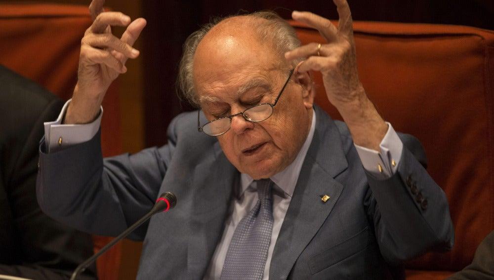 El expresidente de la Generalitat de Cataluña, Jordi Pujol, durante su comparecencia
