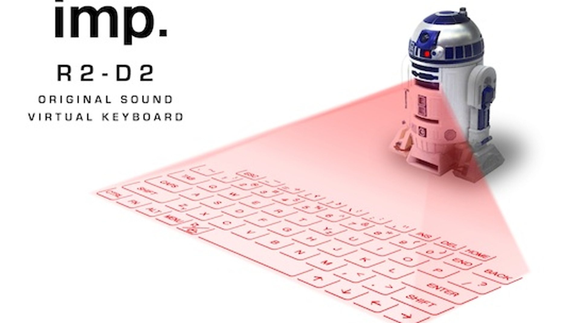 R2D2 de teclado