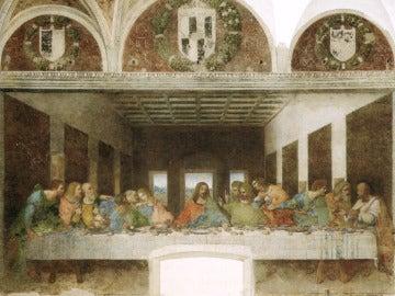 """El cuadro es una réplica de """"La última cena"""" de Leonardo Da Vinci,"""