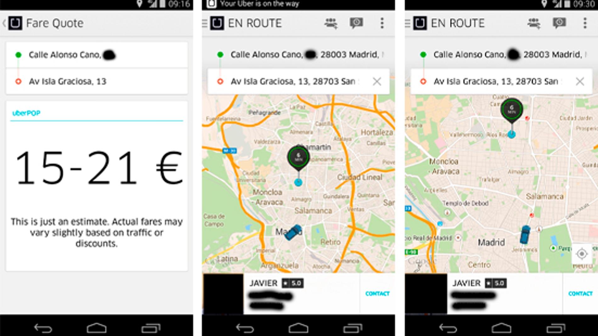 Mi experiencia en Uber por Madrid